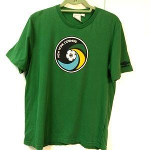 New York Cosmos Short Sleeve Tee Green Boys Siz Xl